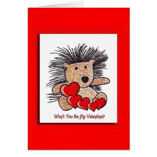 Hedgehog Love Card