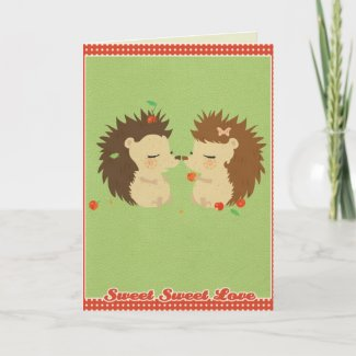 Hedgehog Love GreetingCard