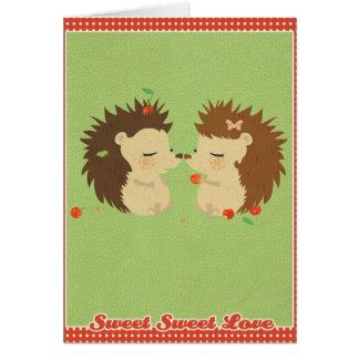 Hedgehog Love GreetingCard Card