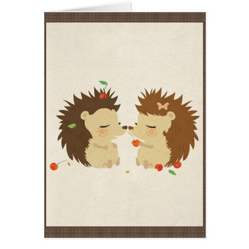 Hedgehog Love (Look II) Card