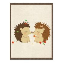 Hedgehog Love (Look II) Postcard