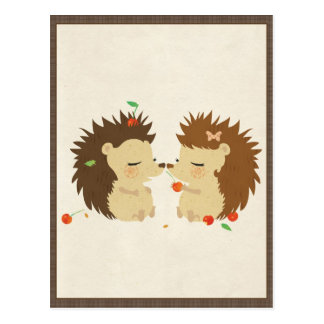 Hedgehog Love (Look II) Postcard