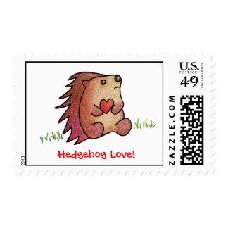 Hedgehog Love! Postage Stamp