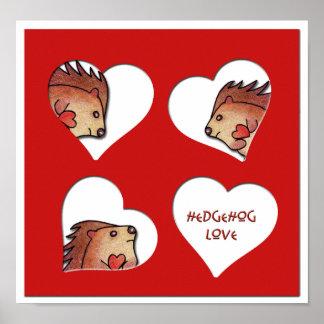 Hedgehog Love! Poster