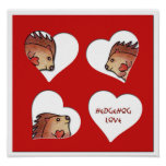 Hedgehog Love! Print