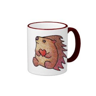 Hedgehog Love! Ringer Coffee Mug