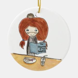 Hedgehog Lunch Ornament