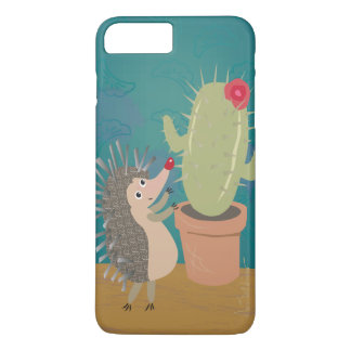 Hedgehog Meets Cactus iPhone 7 Plus Case