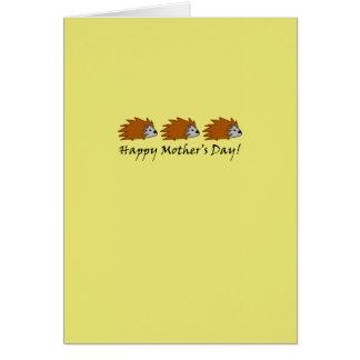 Hedgehog Mother's Day Card