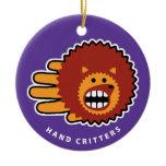 Hand shaped Hedgehog ornament
