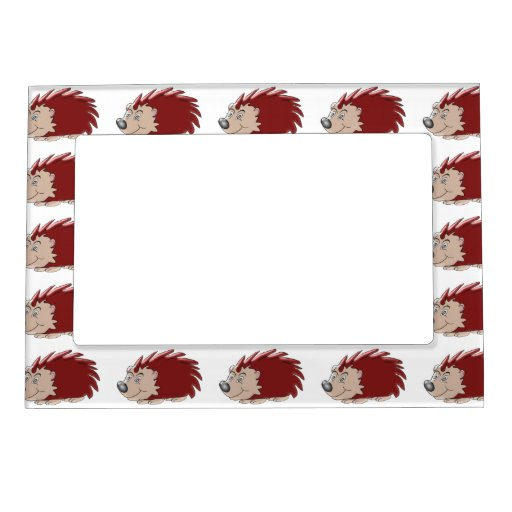 Hedgehog Picture Frame Magnet Zazzle