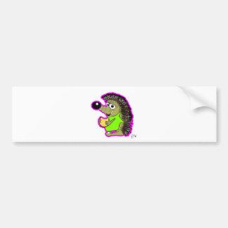 hedgehog pink bumper stickers