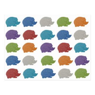 Hedgehog Pop Art Postcard