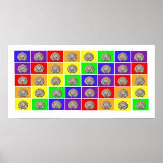Hedgehog Rainbow Poster