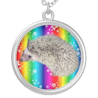 Hedgehog Rainbow Star Necklace