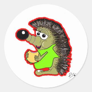 hedgehog red sticker
