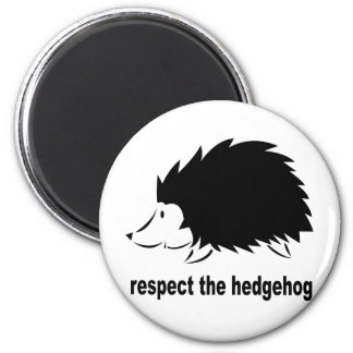 Hedgehog - Respect the Hedgehog 2 Inch Round Magnet
