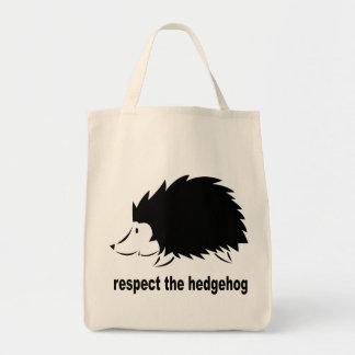 Hedgehog - Respect the Hedgehog Tote Bags