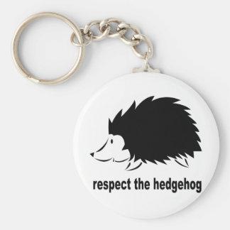 Hedgehog - Respect the Hedgehog Basic Round Button Keychain