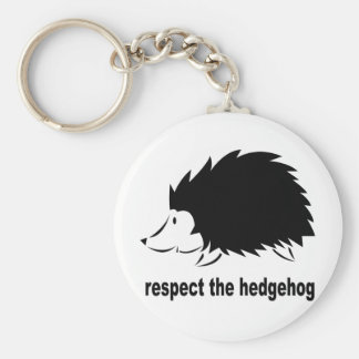 Hedgehog - Respect the Hedgehog Keychain