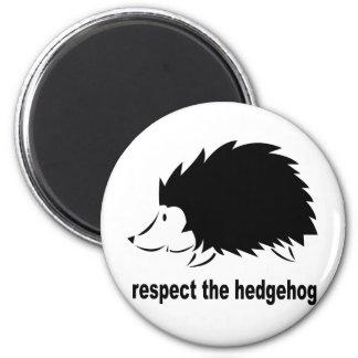 Hedgehog - Respect the Hedgehog Refrigerator Magnet