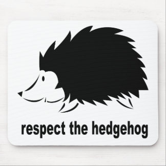 Hedgehog - Respect the Hedgehog Mouse Pad
