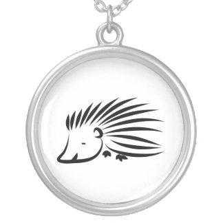 Hedgehog Round Pendant Necklace