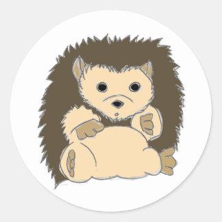 HedgeHog Round Stickers
