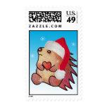 Hedgehog Santa Postage