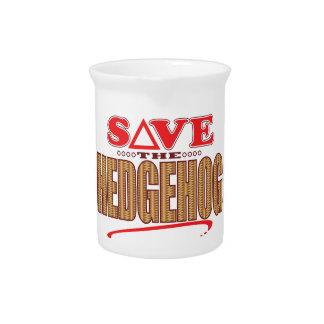 Hedgehog Save Drink Pitcher