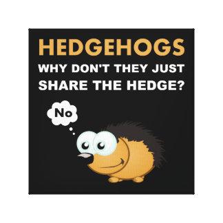 Hedgehog Share Canvas Print