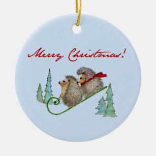 Hedgehog Ornaments & Keepsake Ornaments | Zazzle