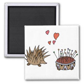 Hedgehog - sprocket wheel 2 inch square magnet