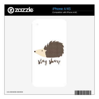 Hedgehog stay sharp skins for the iPhone 4