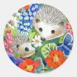 Hedgehog Stickers (Spring Version)