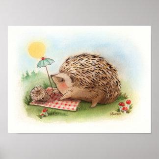 Hedgehog Summer afternoon Art Print