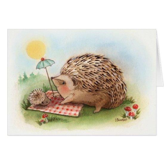 Hedgehog Summer afternoon Card