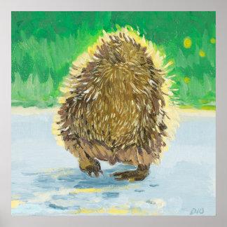 Hedgehog Tush, Adorable Hedge Hog Poster