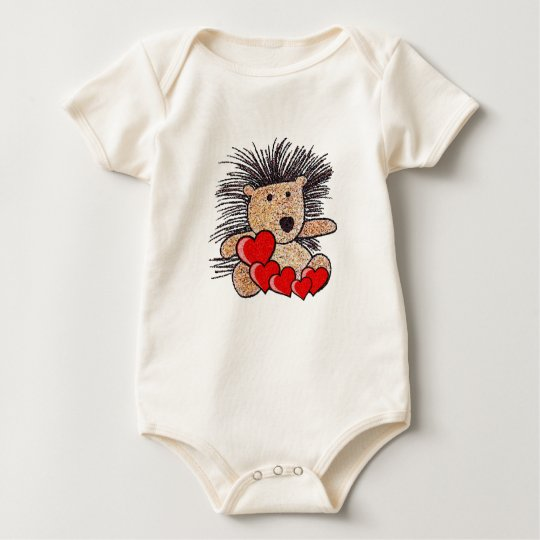 Hedgehog Valentine! Baby Bodysuit