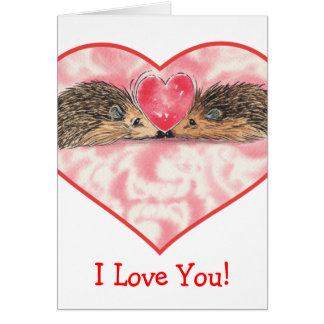 Hedgehog Valentines by Russ Card