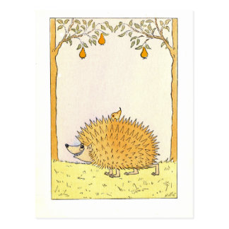 """Hedgehog - Vintage Illustration Postcard"