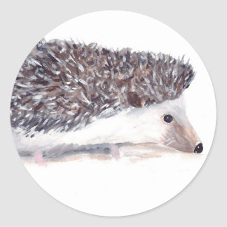 Hedgehog wild animal wildlife classic round sticker