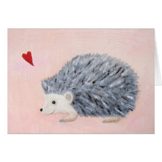 Hedgehog with Heart Greeting Card