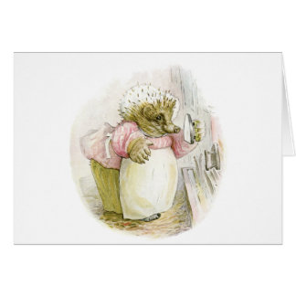 Hedgehog with Iron Mrs Tiggy-Winkle Cards