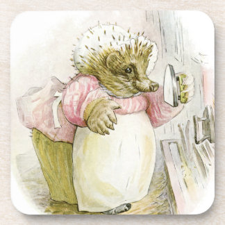 Hedgehog with Iron Mrs Tiggy-Winkle Coaster