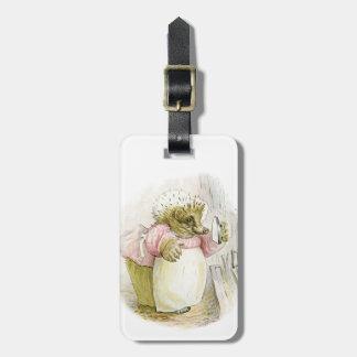 Hedgehog with Iron Mrs Tiggy-Winkle Bag Tag