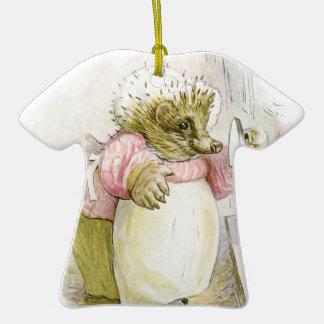 Hedgehog with Iron Mrs Tiggy-Winkle Christmas Ornament