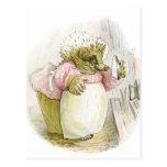 Hedgehog with Iron Mrs Tiggy-Winkle Postcard