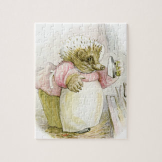 Hedgehog with Iron Mrs Tiggy-Winkle Puzzle