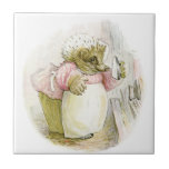 Hedgehog with Iron Mrs Tiggy-Winkle Tiles